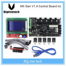 MKS Gen V1.4 3D printer kit with MKS Gen V1.4 RepRap Control board + 5PCS TMC2100 Driver/8825/A4988 + 12864 LCD