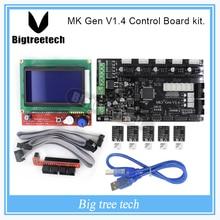 МКС Gen V1.4 3D комплект принтера с МКС Gen V1.4 RepRap Управления доска + 5 ШТ. TMC2100 Водитель/8825/A4988 + 12864 ЖК-