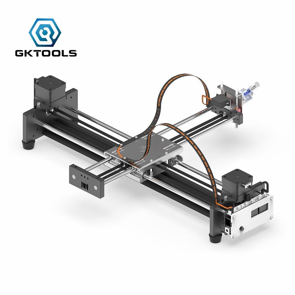 Zeichnung Maschine Freies Verschiffen Neue upgrade GKDraw X3 Pro DIY Alle Metall Corexy XY GRBL Plotter Kit Schriftzug Roboter CNC