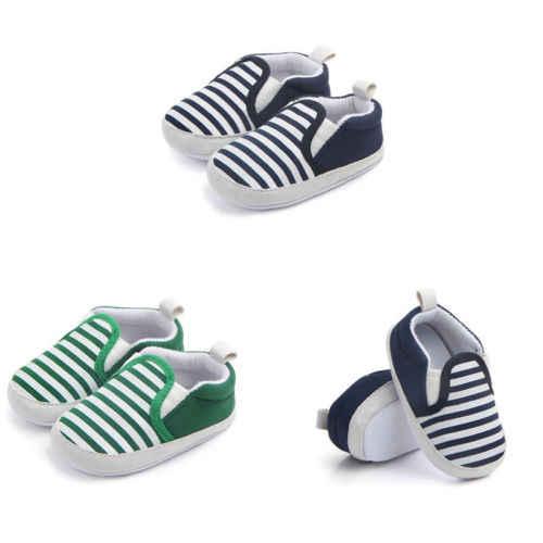 2018 جديد عربة الوليد طفل الطفل بنات أولاد أطفال الرضع الأولى مشوا مخطط الكلاسيكية أحذية المتسكعون عارضة لينة أحذية SS 45