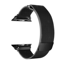 Миланская двухсекционная магнитная лента из нержавеющей стали для Apple Watch 38 мм 40 мм 42 мм 44 мм ремешок для iWatch Миланская Серия 1 2 3 4