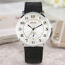 Кевин черный/красный/белый кожаный ремешок Для женщин Часы Современные Кварцевые женские часы модные простые арабские цифры набора часы 2018 Новый