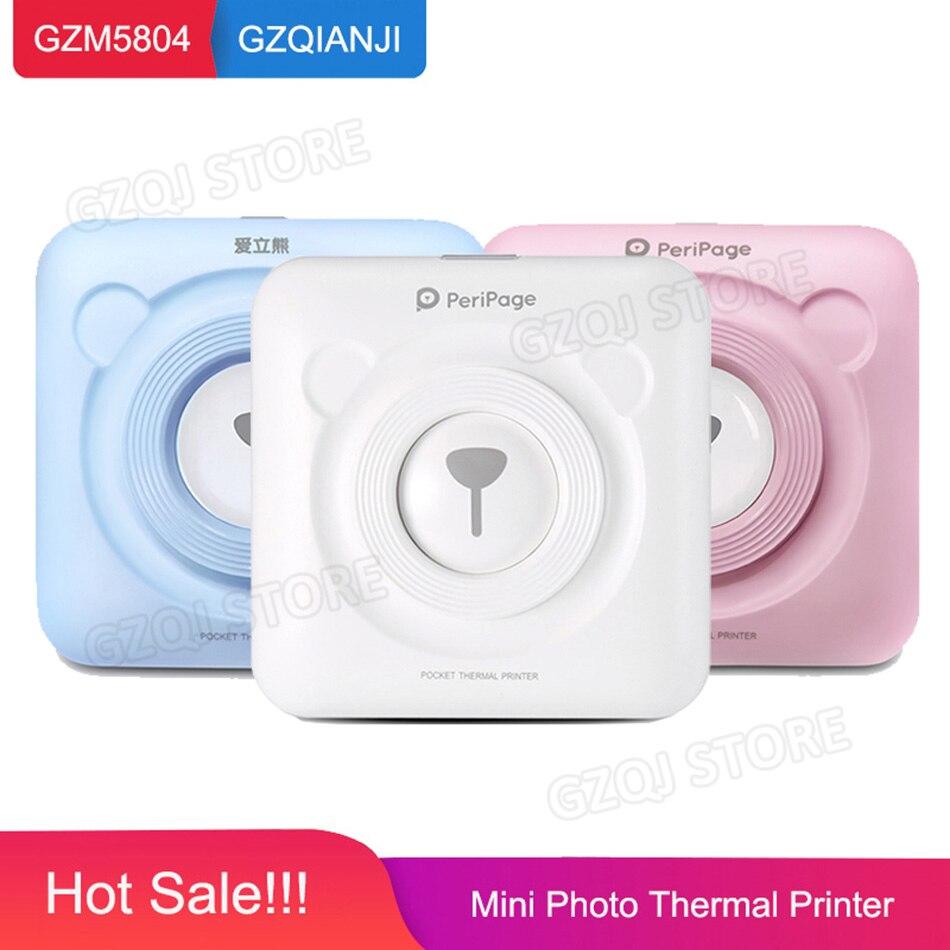 Мини POS Портативный принтер карман для мобильного Термальность Bluetooth 58 мм Мини Беспроводной POS Термальность фотопринтер для Android iOS Телефон
