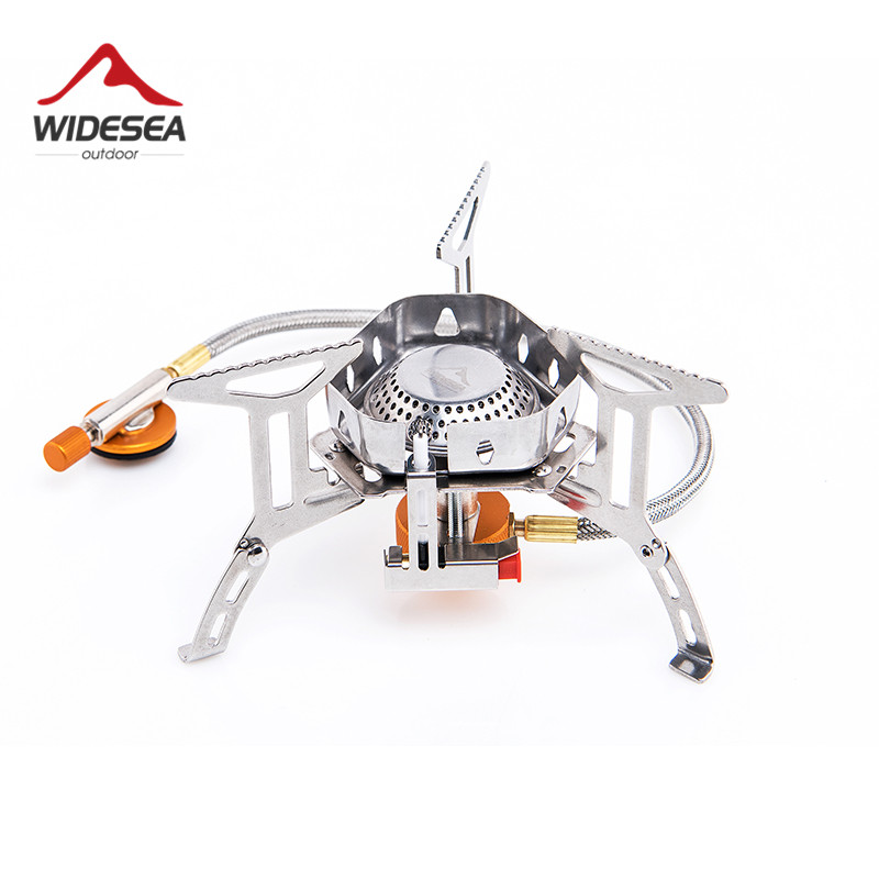 Widesea Wind proof outdoor gas burner camping stove lighter tourist equipment kitchen