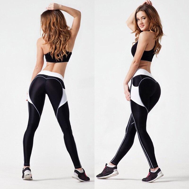 Elastic Push Up Leggings Heart Pattern Sexy Legging Sportswear Clothing Women Pants Harajuku Athleisure Fitness Leggings