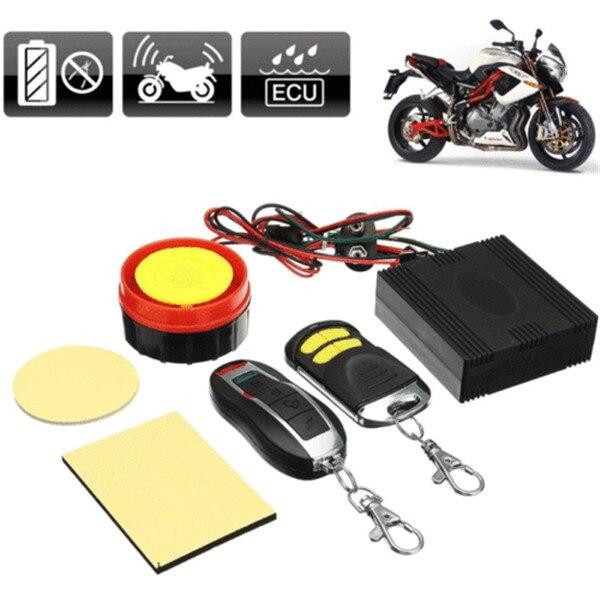 Motorcycle Bike Anti-theft Security Alarm System Remote Control Shock Sensor 12V
