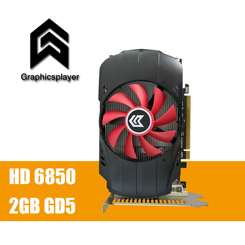 VGA Graphic Cards HD6850 2GB 256BIT GDDR5 Tarjeta Grafica Scheda Video Placa De Video Card Carte Graphique for AMD ATI with fan free shipping new hd6850 2gb gddr5 256bit game card hdmi vga dvi port 6850 2gb original graphic card ati radeon for desktop