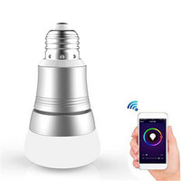 E27 7W RGBW WIFI Timing APP Controlled LED Smart Light Bulb Lamp Work With For Alexa