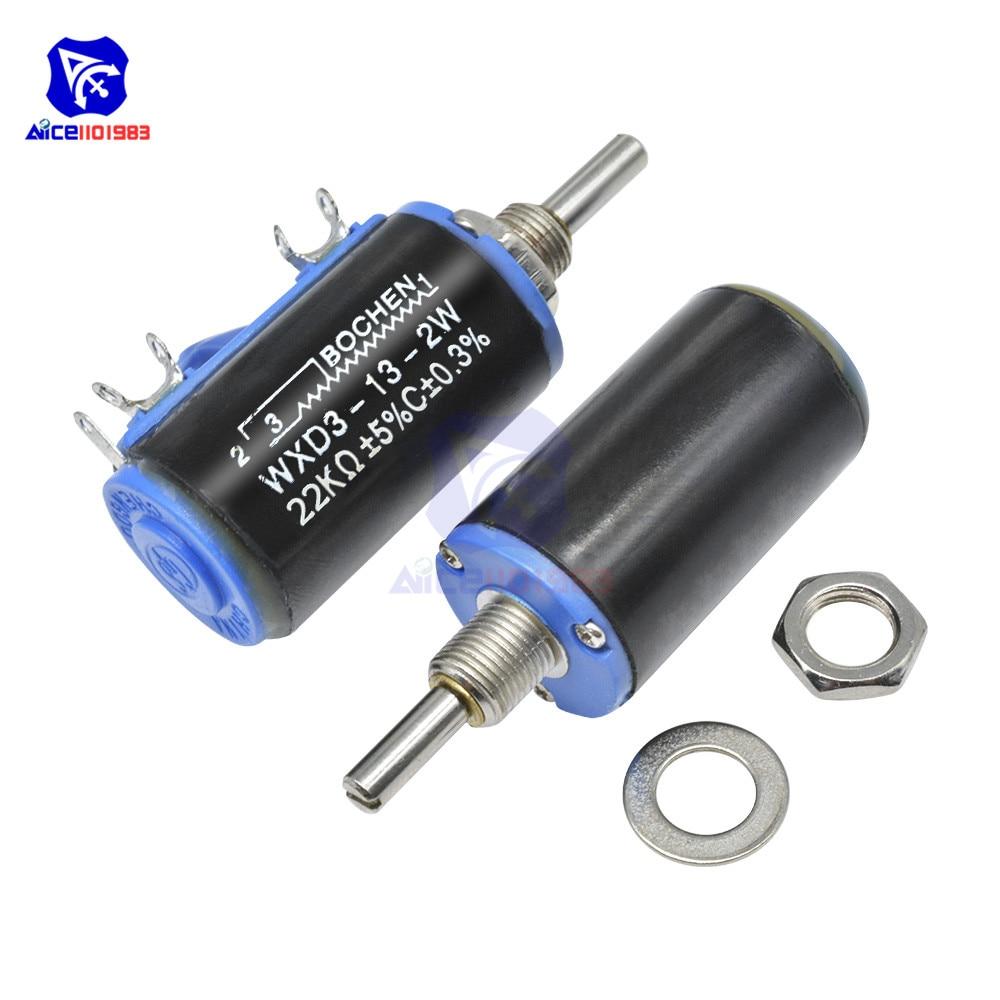 WXD3-13-2W проволочный потенциометр сопротивление 100R 470R 1 K 4,7 K 6,8 K 10 K 22 K 47 K 100KΩ Ом 10 превращает линейный роторный потенциометр