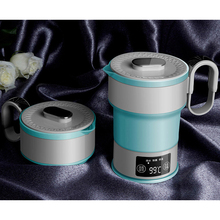 110~240V Portable Electric Kettle Folding Travel Silicone Kettle Camping Water Boiler Tea Kettle Home Mini Kettle 600ML