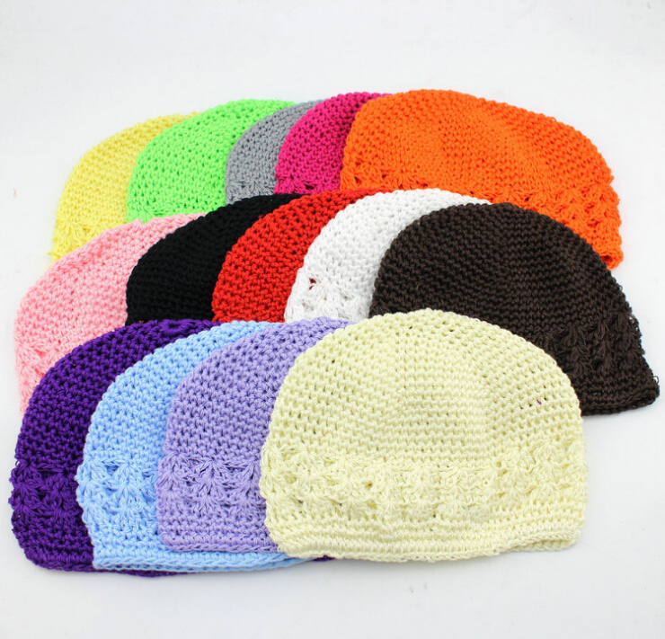 free shipping, 21 Colors New Popular <font><b>kufi</b></font> hats girl crochet hat baby beanie crochet <font><b>cap</b></font> <font><b>kufi</b></font> <font><b>caps</b></font> toddler baby knited beanies