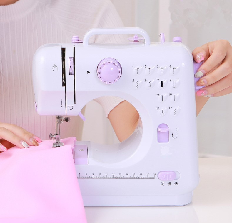 Free Shipping Mini Sewing Machine Portable Knitting Machine Multifunction Electric Replaceable Presser Foot 15pcs multifunction sewing machine presser feet foot set brother singer janome