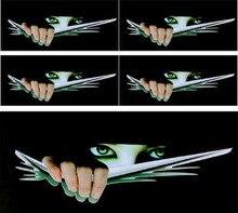 Hot Funny Car Sticker 3D Eyes Peeking Monster Voyeur Car Hoods Trunk Thriller Rear Window Decal New