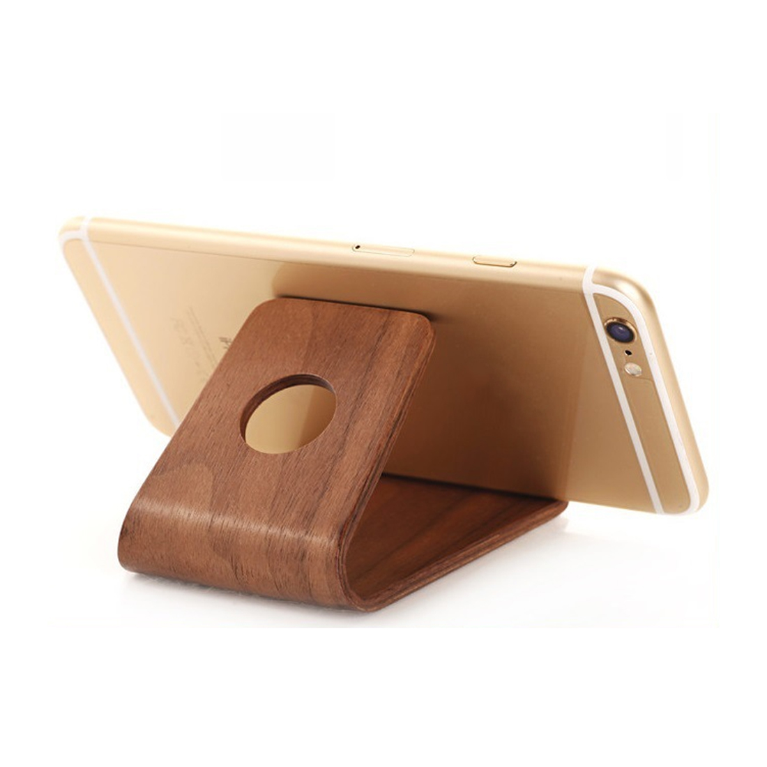 Etmakit Hot Birch/Walnut Lightweight Slim Design Wooden Mobile Phone Stand Holder For IPhone X 8 7 Plus Samsung Galaxy S8 Note5