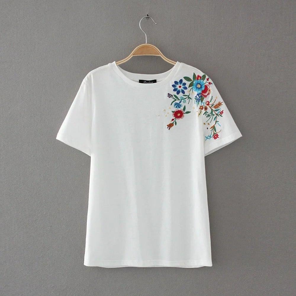 HTB1g.o0QXXXXXbaaXXXq6xXFXXXU - Women Cotton Slim Floral Tshirts Casual Street Daily
