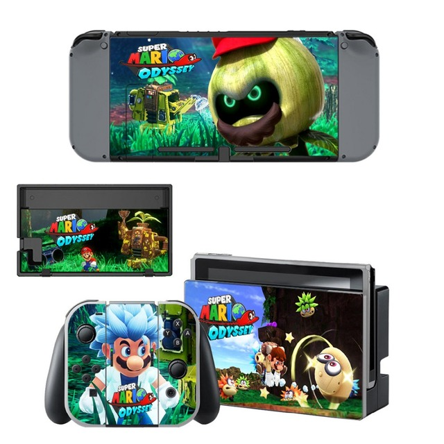 Gift Popular Game Super Mari o Skin Sticker For Nintend Switch Console Controller Vinyl Skin Cover Accessories NS 3