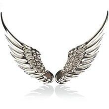 3D объемная Металлическая Автомобильная наклейка из сплава s Angel Hawk Wings эмблема значок наклейка с логотипом автомобиля Золотой Серебряный цвет опционально 1 пара