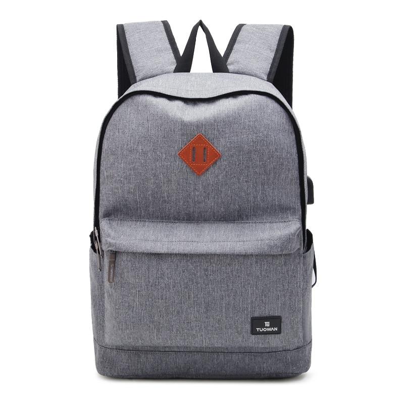 New Design USB Charging Mens Backpacks Male Casual Travel Waterproof Mochila Teenagers Women Student School Bag Laptop Backpack