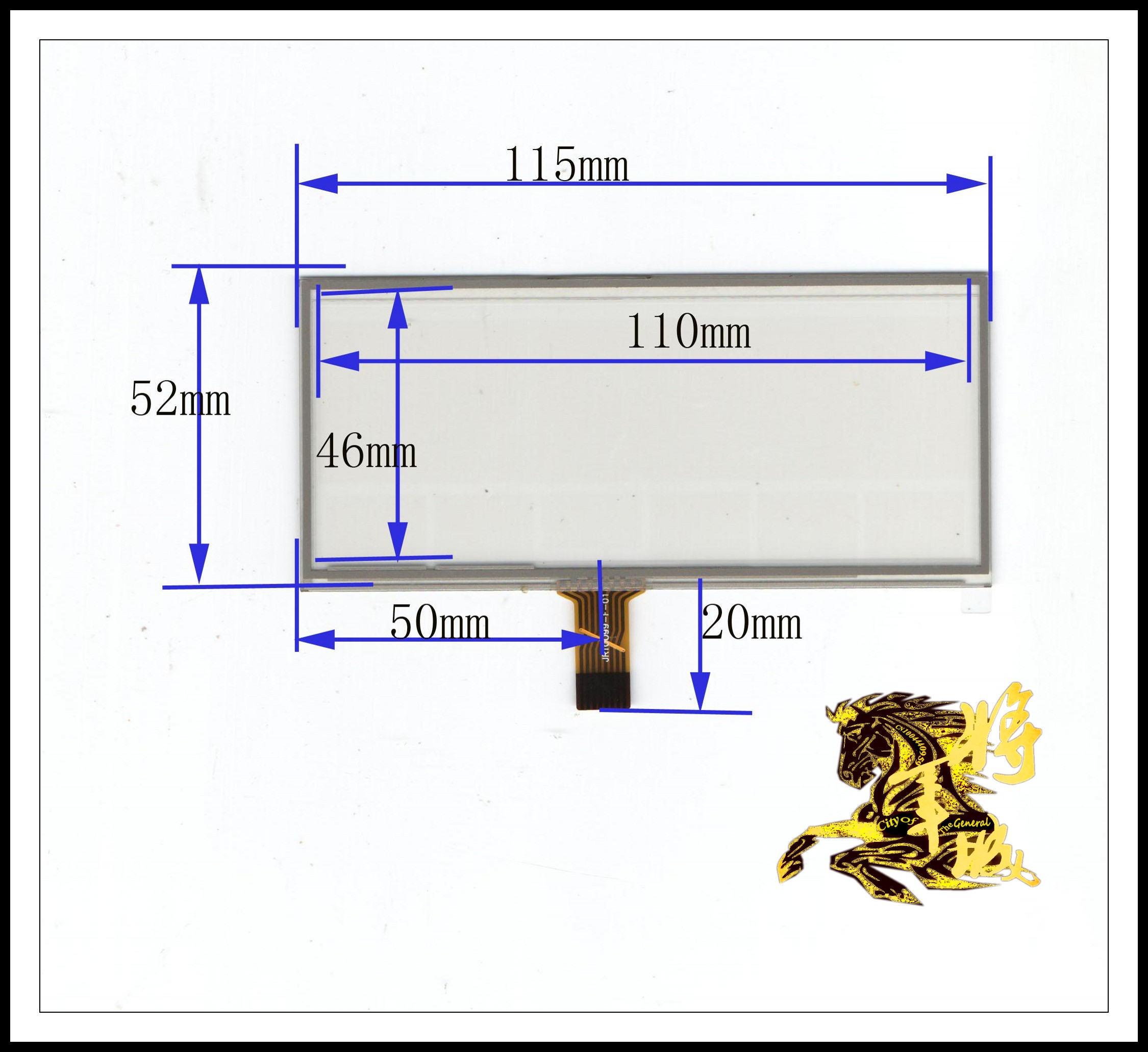 GENCTY For 3.5-inch 115mm * 52mm four-wire resistive screen W-Y