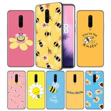 Cute animal bee art Soft Black Silicone Case Cover for OnePlus 6 6T 7 Pro 5G Ultra-thin TPU Phone Back Protective