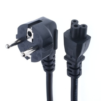 5ft C5 koniczyny prowadzić do ue 2 Pin AC ue wtyczka zasilania kabel sznurkowy monitor do komputera tanie i dobre opinie VOSORON Przewód zasilający EU Plug Elektroniki użytkowej 1 5M