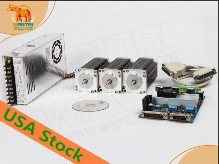 [Out Of Stock] Wantai <font><b>CNC</b></font> Nema 23 Stepper Motor 57BYGH603 1A 290oz-in+<font><b>3</b></font> <font><b>Axis</b></font> Driver Board TB6560 Cut Laser <font><b>Mill</b></font> Engraver <font><b>Kit</b></font> image