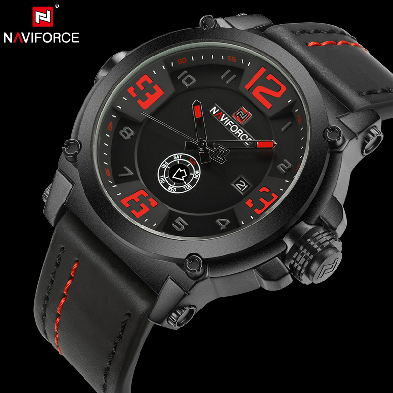 2017 NAVIFORCE Top Brand Men's Fashion Sport Watches Waterproof Men Quartz Watch Man Military Clock Wristwatch relogio masculino weide popular brand new fashion digital led watch men waterproof sport watches man white dial stainless steel relogio masculino