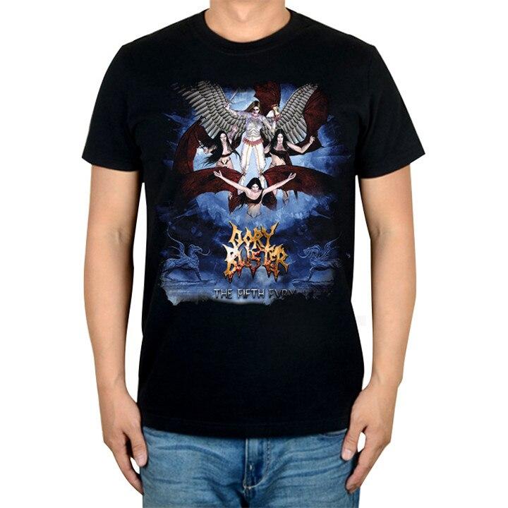 2 дизайна крутой Ангел Гори блистер рок Бренд музыкальная футболка хлопок панк фитнес тяжелый рок металл черный рубашки скейтборд хип хоп - Цвет: 2