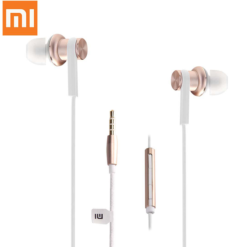 Original Xiaomi Mi IV Hybrid In-ear MIC Dual Dynamic Driver Wired Control Earphone with MIC- Gold for Android iOS For MP3 PC 100% original xiaomi hybrid pro hd earphone with mic in ear hifi noise canceling headset circle iron mixed for xiaomi note4 mi 6