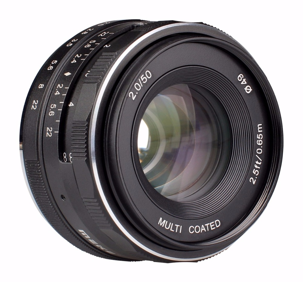 Meike MK-FX-50-2.0 50mm f 2.0 Large Aperture Manual Focus lens APS-C Lenses For Fujifilm Mirrroless cameras