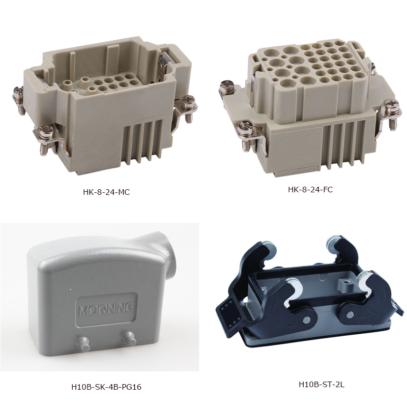 HK-8/24 230v/400v sockey and plug 16A Copper alloy heavy duty connector Polycarbonate heavy duty connectors hdc hee 018 1 f m 18pin 16a industrial rectangular aviation connector plug