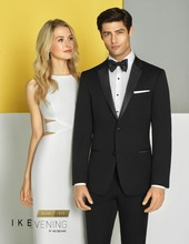 wedding tuxedo notch collar for groom wear black mens suits two button 2019 prom