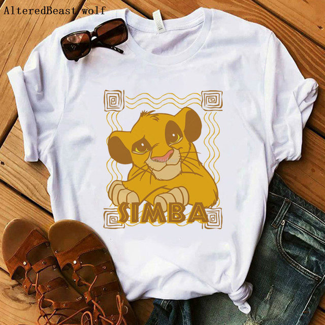 The Lion King Cartoon Funny Short T Shirt 1