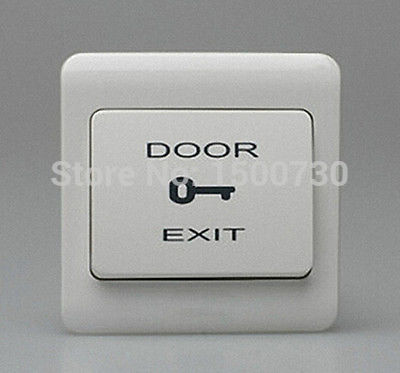 Door Release Open Switch Exit Push Button for Door access control system free shipping plastic exit button exit switch for door access control system door push exit door release switch with back box