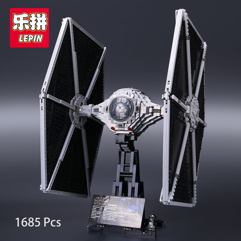 Lepin 05036 Star Wars Tie Thailand Fighter UCS Building Fighter Educational Blocks Bricks Toys Compatible with lego 75095