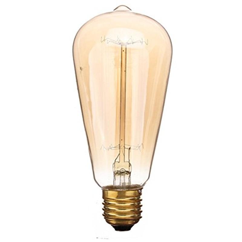 Smuxi Edison Bulb Retro Lamp Incandescent Ampoule Vintage E27 60W 220V For Decor Filament Bulb E27 Pendant Lights Antique Bulb