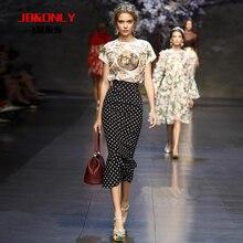 Jbonly2014แฟชั่นเสื้อbatwingลายจุดปลาหางชุดเต็มชุดชิ้นเดียวชุดหญิง