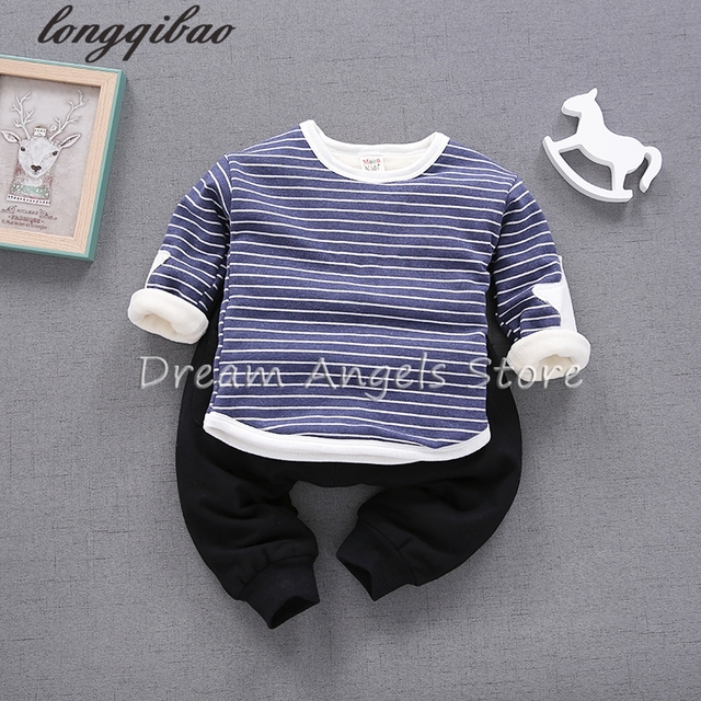 Hot Sale 2017 Baby Sweatshirt Kids Clothes Color buttons pocket Warm Pullover Thick Velvet Baby Boy Girls Clothes Sweatshirt 16