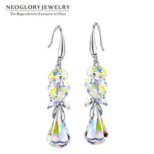 Neoglory Jewelry MADE WITH SWAROVSKI ELEMENTS Crystal Drop Dangle Earrings For Women 2017 New Brand Birthday Gifts T1