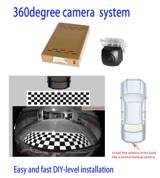 One camera 360 degree Bird View Camera System easy and fast DIY-level installation HD Image Night Vision for Reversing