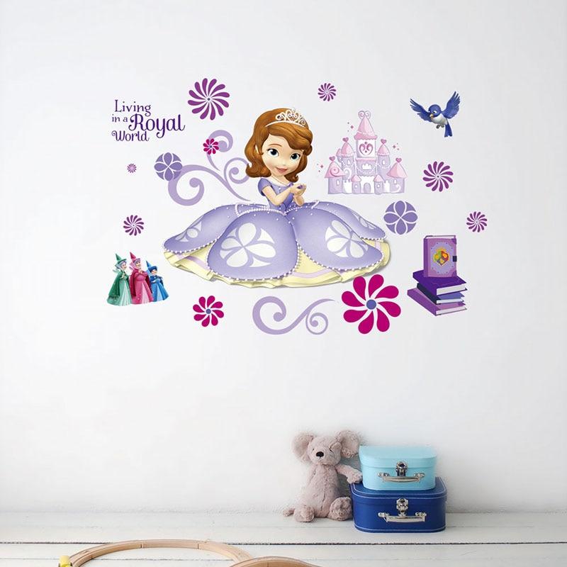 Wall Mural photo wallpaper PRINCESS CASTLE DISNEY kids nursery decoration GLUE