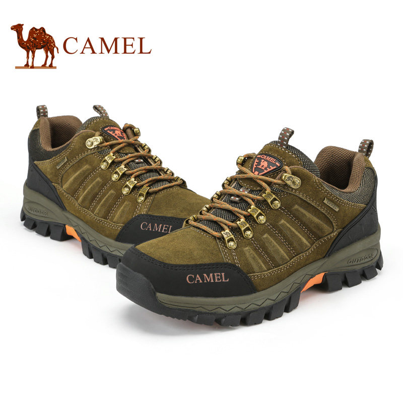 Camel outdoor 2016 spring and autumn outdoors wear-resistant lace movement walking shoes low to help foot men's shoes A632026945 iverson basketball shoes male adolescents spring low help iverson war boots light wear antiskid sports shoes