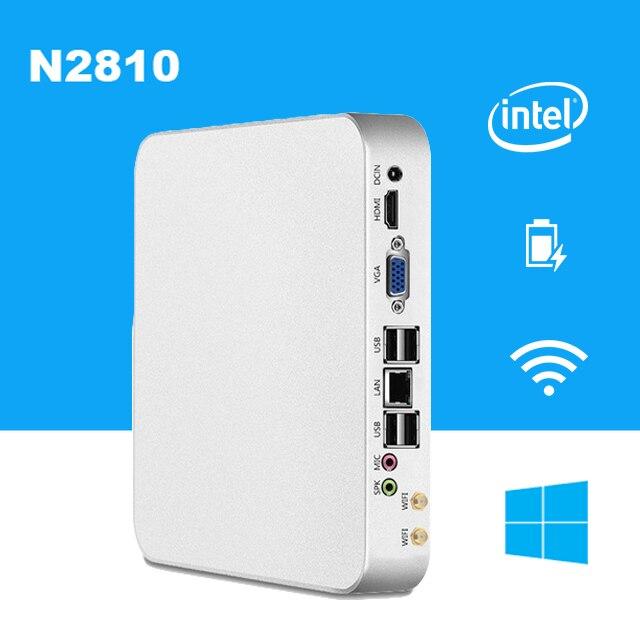 Мощный дешевый Mini PC Windows 10 Celeron N2810 микро Настольный ПК для HTPC неттоп USB HDMI и VGA двойной Дисплей wi-Fi ТВ коробка ...