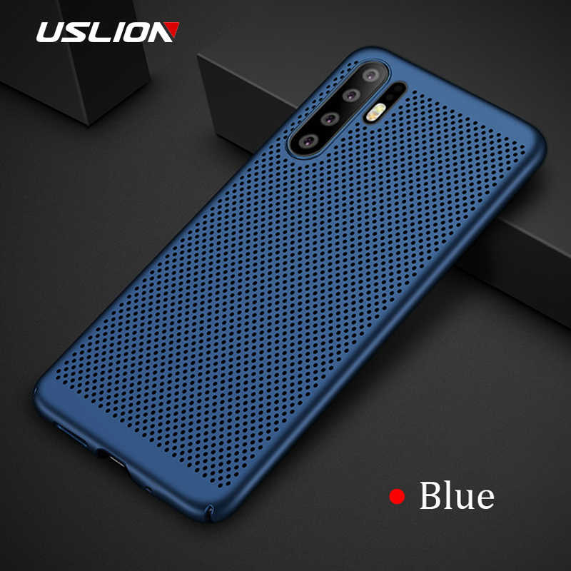 USLION Matte Hard PC Case For Huawei Honor 10 9 Lite V10 V9 Play 8 8X 7A 7X Hollow Heat Dissipation Back Cover Phone Case Coque