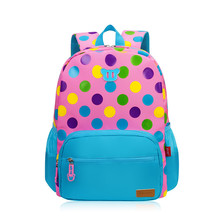 School Bags Backpack Schoolbag Fashion Kids Lovely dot Backpacks For Children Teenage Girls Boys School Student Mochila