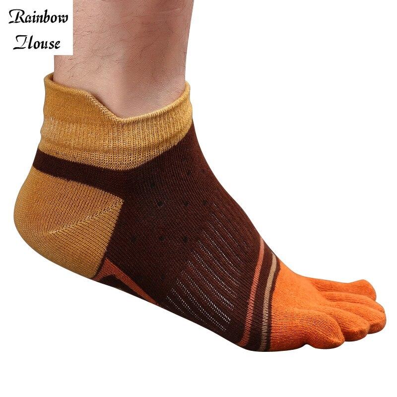New 2017 Boys Men Toe Socks Cotton Finger Breathable Five Toe Man Socks Fashion Patchwork Finger Toe Male Socks 4pcs=2pairs/lot