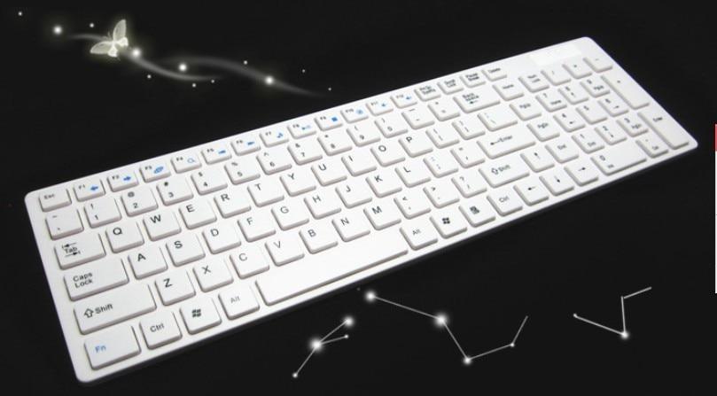 2 4ghz Wirless Keyboard Slim Wireless White Keyboard For Desktop Apple Mac Windows Pc Laptop