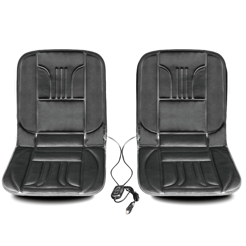2 seats 12V Car Seat Cushion Covers Winter Heated Car Seat Warmer Electric Heating Seat Cushion With Temperature Protection