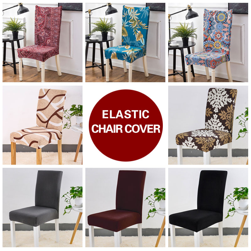 US $2.99 37% OFF|Black Spandex Chair Cover Stretch Geometry Kitchen Chair  Covers Anti dirty housse de chaise Towel Chair Seat Covers For Chairs-in ...
