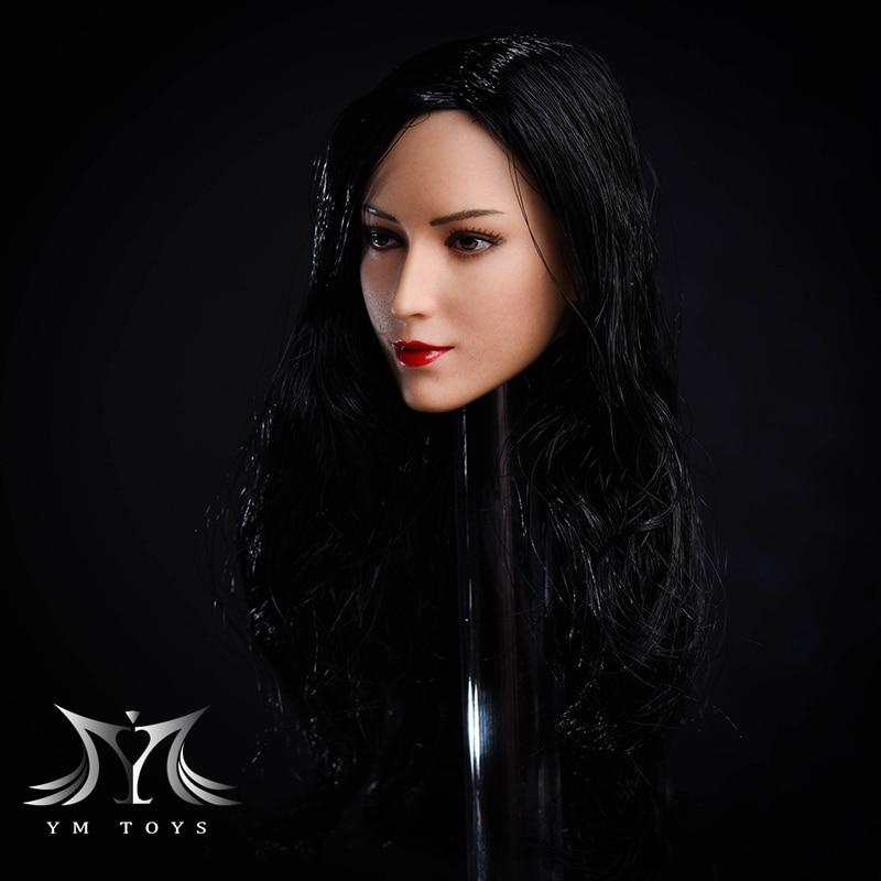 YMTOYS 1//6 PVC Head Carved Sculpt Ada Wong Figure Model F 12/'/' Phicen Body